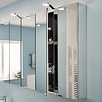 Armoire de salle de bains GoodHome Imandra miroir L.60 x H.90 x P.15 cm