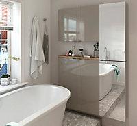 Armoire de salle de bains GoodHome Imandra taupe L.80 x H.90 x P.15 cm