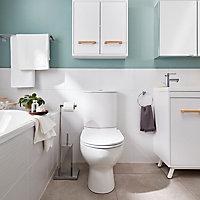 Armoire de salle de bains GoodHome Ladoga blanc L. 60 x H. 60 x P. 15 cm