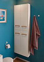 Armoire de salle de bains GoodHome Ladoga blanc L. 60 x H. 90 x P. 15 cm