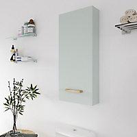 Armoire de salle de bains GoodHome Ladoga vert L. 40 x H. 90 x P. 15 cm