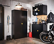 Armoire haute de garage en métal noir