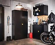 Armoire murale de garage en métal noir