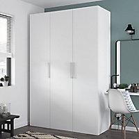 Armoire penderie portes battantes blanche GoodHome Atomia H. 225 x L. 150 x P. 60 cm