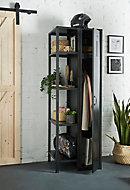 Armoire étagère en métal noir l.60 x P.50 x H.180 cm