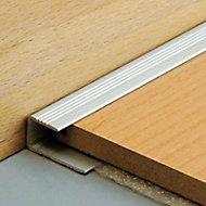 Arrêt bord Dinac 15,5 en aluminium, coloris naturel 2,70 m.