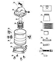 Aspirateur eau et poussières Einhell TC/VC 1820S