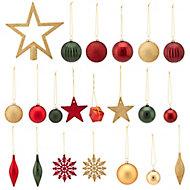Assortiment de décorations de noël tradition (100 pièces)