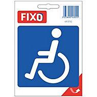 """Autocollant """"Toilettes handicapé"""""""