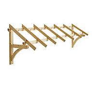 Auvent bois pour porte de garage Castorama Cléo 298 x 76 cm