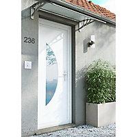 Auvent pvc gris clair 120 x 76 cm