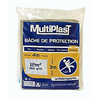 Bâche de protection Multiplast qualité pro anti dérapante 3 x 4 m