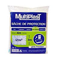 Bâche de protection Multiplast très épaisse/gros travaux 3 x 4 m