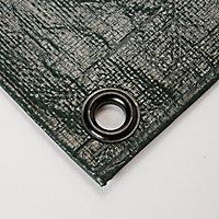 Bâche lourde réversible vert marron 4 x 5 m