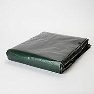 Bâche lourde réversible vert marron 5 x 8 m