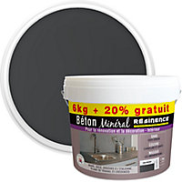 Béton minéral Résinence gris ardoise 6kg + 20% gratuit