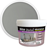 Béton minéral Résinence gris clair 6kg + 20% gratuit