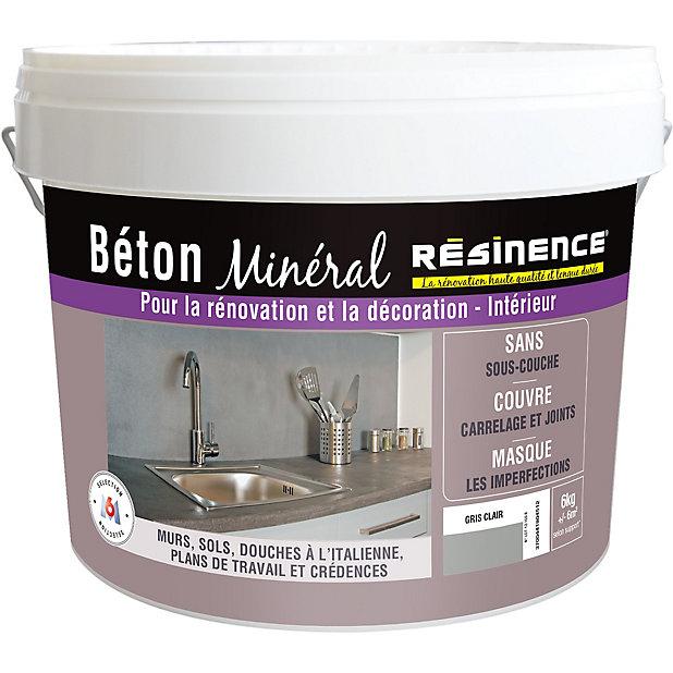 Beton Mineral Resinence Gris Clair 6kg Castorama