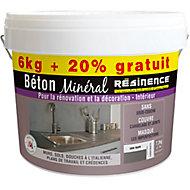 Béton minéral Résinence gris taupe 6kg + 20% gratuit