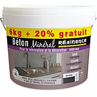 Béton minéral Résinence noir intense 6kg + 20% gratuit