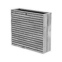 Bac rectangulaire épicéa HILLHOUT Elan gris 103 x 30 x h.93 cm