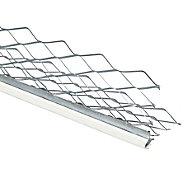 Baguette d'angle extérieur en acier galvanisé avec cordon PVC blanc 3000x35x35mm