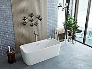 Baignoire 170 x 78 cm Allibert Kolora blanc mat