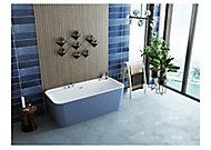 Baignoire 170 x 78 cm Allibert Kolora bleu baltic mat