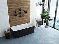 Baignoire 170 x 78 cm Allibert Kolora noir mat