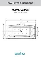 Baignoire balnéo Maya 170 x 80 cm