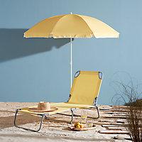 Bain de soleil en métal et toile Curacao jaune