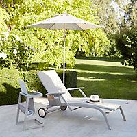 Bain de soleil en métal et toile GoodHome Santorin peyote