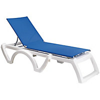 Bain de soleil en résine Jamaica blanc bleu