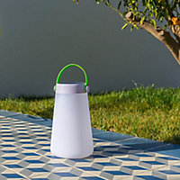Baladeuse solaire LED Lumisky Take Away blanc 0,75W + USB IP44