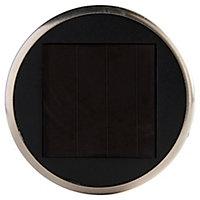 Balise LED intégrée solaire à piquer argent H.39 cm IP44