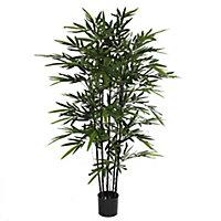 Bambou noir artificiel en pot plastique ø75 x h.150 cm