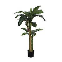 Bananier vert artificiel en pot plastique ø85 x h.150 cm