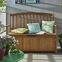 Banc avec coffre de jardin en bois Aland