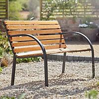 Banc de jardin Blooma Norfolk bois 2 personnes