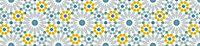 Bande adhésive Draeger la carterie azulejos bleu et ocre 100 x 19,5 cm