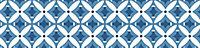 Bande adhésive Draeger la carterie fleur graphique bleu 100 x 19,5 cm