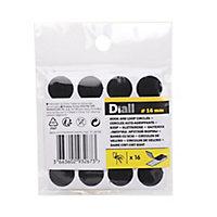 Bande auto-aggrippante format rond noir Diall 16 mm - 16 pièces