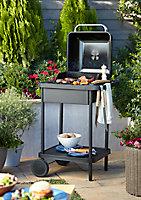 Barbecue charbon de bois GoodHome Rockwell 200 noir