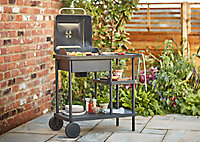 Barbecue charbon de bois GoodHome Rockwell 210 noir