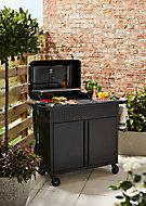 Barbecue charbon de bois GoodHome Rockwell 310 noir