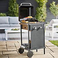 Barbecue à gaz GoodHome Rockwell 200 noir