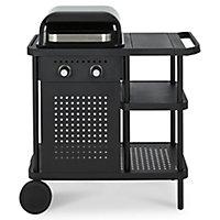 Barbecue à gaz GoodHome Rockwell 210 noir