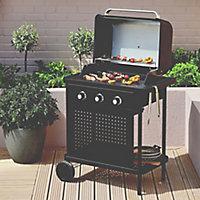 Barbecue à gaz GoodHome Rockwell 300 noir