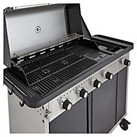 Barbecue à gaz GoodHome Rockwell 450 noir.