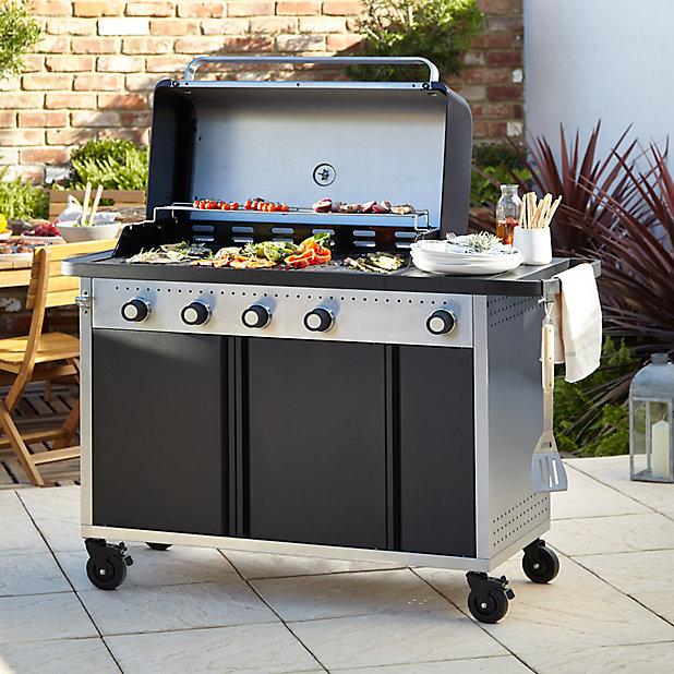 Barbecue A Gaz Goodhome Rockwell 450 Noir Castorama